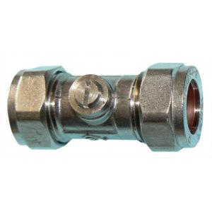 15mm CHROME ISOLATION VALVE