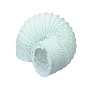 3m WHITE PVC ROUND VENT HOSE