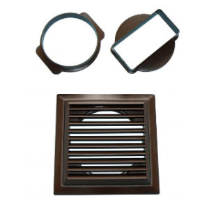 BROWN LOUVRED VENT WALL OUTLET