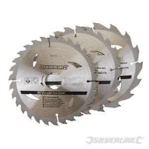 Pk. 3 165mm x 30-20, 16, 10mm RINGS CIRCULAR SAW BLADES