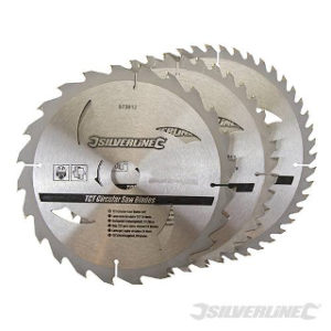 Pk. 3 235mm x 30-25, 16mm RINGS CIRCULAR SAW BLADES