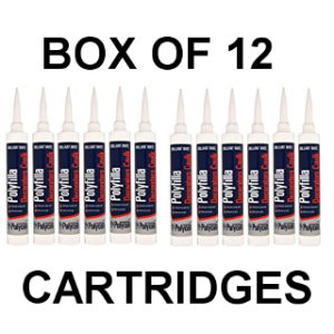 BOX OF 12 DECORATORS CAULK CARTRIDGES POLYCELL