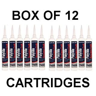 BOX OF 12 DECORATORS CAULK CARTRIDGES POLYCELL