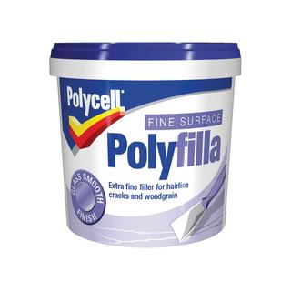 500g FINE SURFACE POLYFILLA TUB POLYCELL