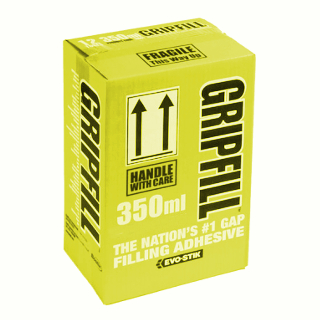 BOX OF 12 GRIPFILL SOLVENT FREE 350ml CARTRIDGE
