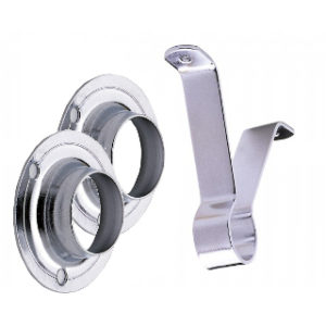 25mm CHROME FINISH RAIL SUPPORT SET ROTHLEY