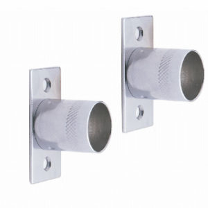 Pk.2 19mm CHROME FINISH STRAIGHT BRACKET ROTHLEY