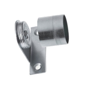 Pk.2 19mm CHROME FINISH CRANKED BRACKET ROTHLEY