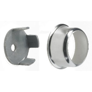 Pk.2 25mm CHROME FINISH CONCEALED SOCKET ROTHLEY