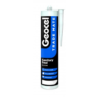 WHITE SANITARY SEAL CARTRIDGE GEOCEL