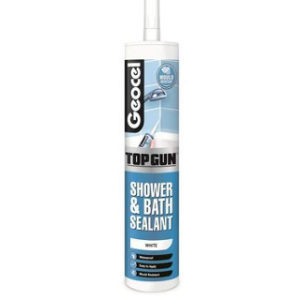 WHITE SHOWER AND BATH SEALANT CARTRIDGE TOPGUN