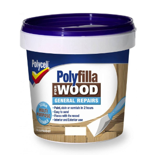 380g WHITE GENERAL REPAIR WOOD POLYFILLA TUB POLYCELL