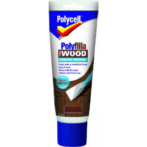 330g DARK GENERAL REPAIR WOOD POLYFILLA TUBE POLYCELL