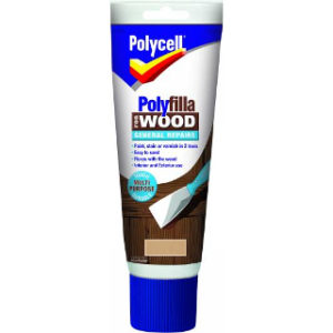 330g MEDIUM GENERAL REPAIR WOOD POLYFILLA TUBE POLYCELL
