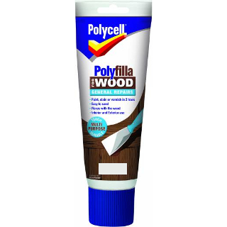 330g WHITE GENERAL REPAIR WOOD POLYFILLA TUBE POLYCELL
