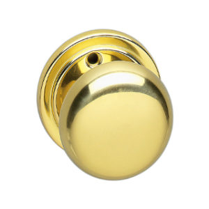 MORTICE KNOB HANDLE POLISHED BRASS