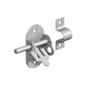 100mm GALVANISED OVAL PADBOLTS
