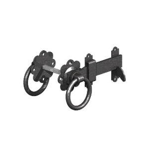 150mm BLACK RING GATE LATCHES