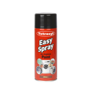 400ml SATIN BLACK EASY SPRAY PAINT