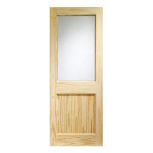 838 x 1981mm CLEAR EXTERNAL 2XG DOOR