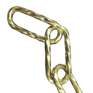 2m 3.4mm TWIST CHAIN BRASS