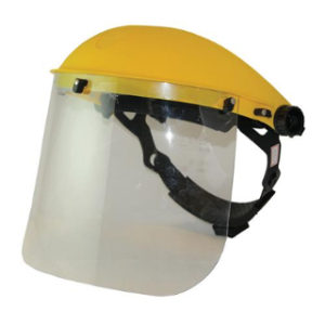 Lightweight Padded headband & single point ratchet Impact & scratch resistant lens Convenient hinged visor Ideal for use with garden shredders & brush cutters