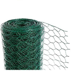 10m x 500mm x 13mm GREEN WIRE NETTING