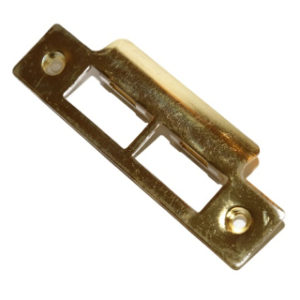 SASH LOCK STRIKER PLATE ELECTRO-BRASS