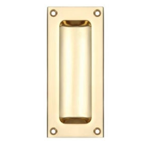 100mm FLUSH PULL HANDLE POLISHED BRASS