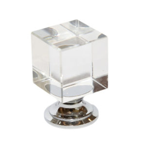 25mm SQUARE GLASS KNOB