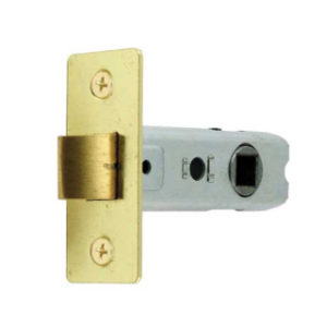 75mm TUBULAR MORTICE LATCH ELECTRO-BRASS