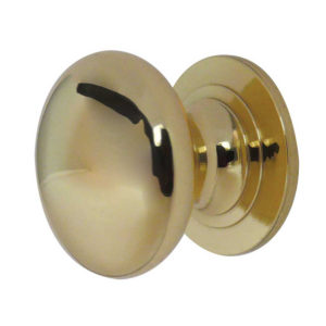 50mm CUPBOARD KNOB POLISHED BRASS