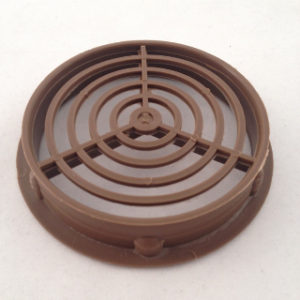 BROWN PUSH-IN ROUND SOFFIT VENT