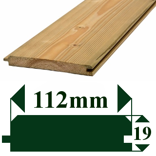 125 x 25mm TREATED V-JOINTED CLADDING