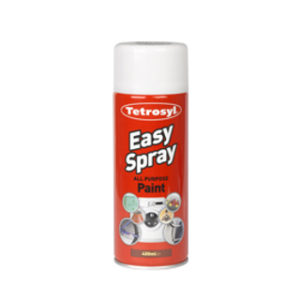 400ml SATIN WHITE EASY SPRAY PAINT