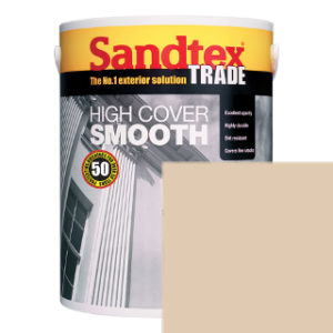 5L BEIGE SMOOTH MASONRY PAINT SANDTEX