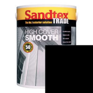 5L BLACK SMOOTH MASONRY PAINT SANDTEX