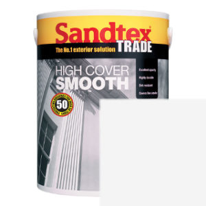 5L BRILLIANT WHITE SMOOTH MASONRY PAINT SANDTEX