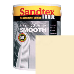 5L CORNISH CREAM SMOOTH MASONRY PAINT SANDTEX