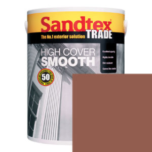 5L ETRUSCAN RED SMOOTH MASONRY PAINT SANDTEX