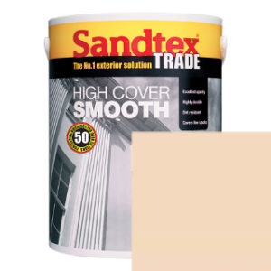 5L LIGHT CREAM SMOOTH MASONRY PAINT SANDTEX