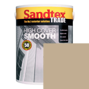 5L MID STONE SMOOTH MASONRY PAINT SANDTEX