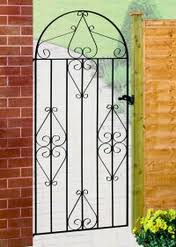 914mm CLASSIC TALL BOW TOP METAL GATE